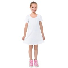 Kids  Short Sleeve Velvet Dress