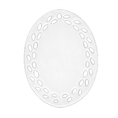 Oval Filigree Ornament (Two Sides)