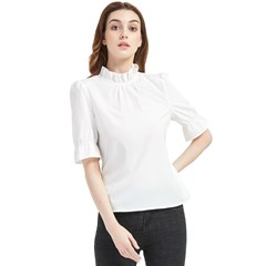 Frill Neck Blouse